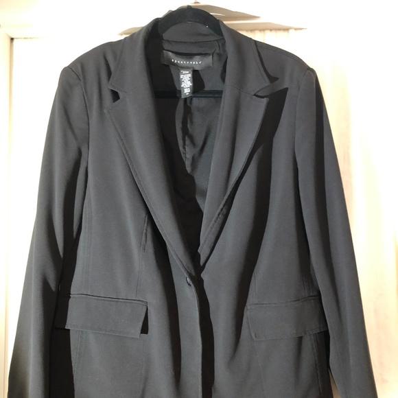 Apostrophe Jackets & Blazers - Apostrophe Black Blazer Plus Size